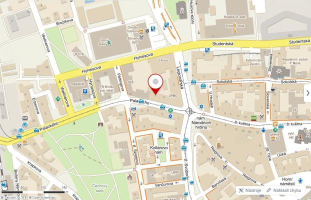 Mapa k modlitební místnosti: