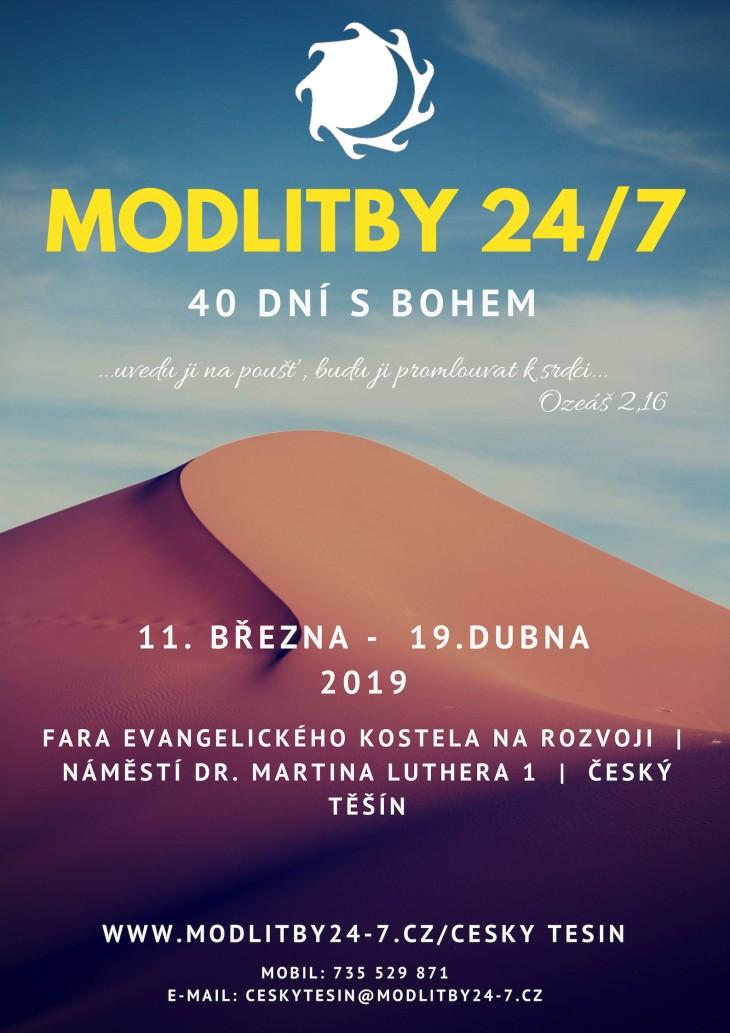 Plakát modliteb 24/7